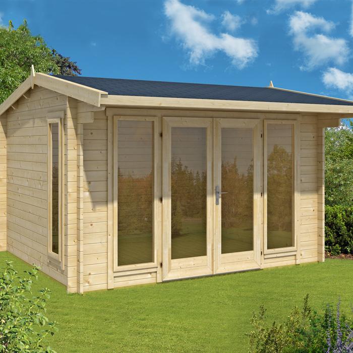 Image of Greenway 3.5m x 3m Charnwood Log Cabin
