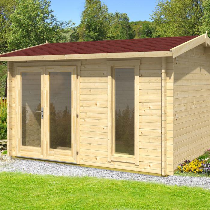 Image of Greenway 3.5m x 3m Whiteleaf Log Cabin