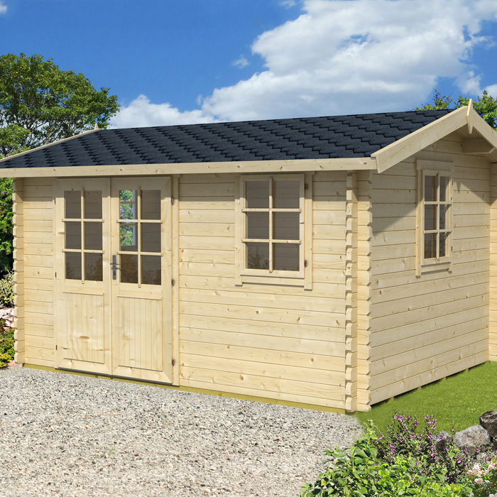 Image of Greenway 3.8m x 2.8m Tollymore Log Cabin