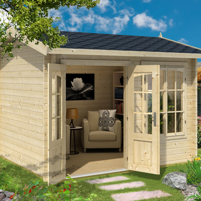 Image of Greenway 3m x 2.5m Elizabeth Log Cabin