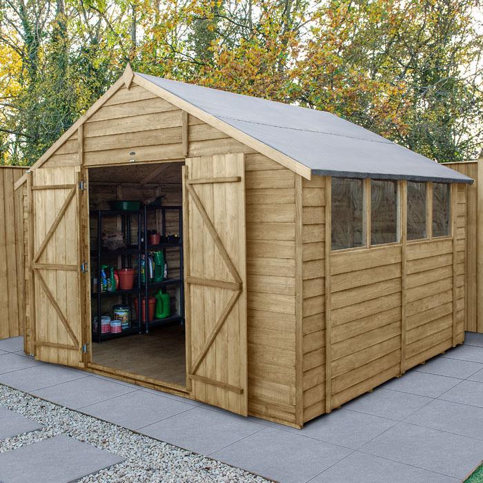 Image of Hartwood 10' x 10' Double Door Overlap Pressure Treated Apex Workshop