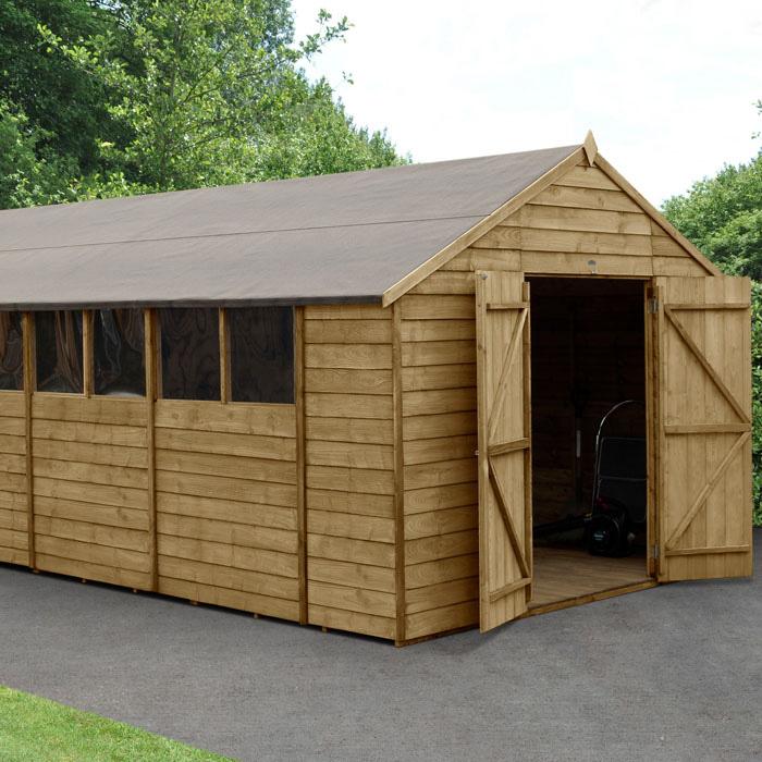 Image of Hartwood 10' x 20' Double Door Overlap Pressure Treated Apex Workshop