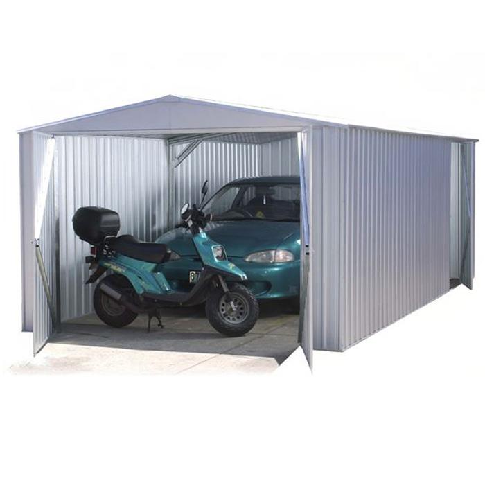 Image of Adley 10' x 20' Double Door Titanium Apex Metal Garage
