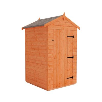 Redlands 4' x 4' Windowless Shiplap Modular Apex Shed