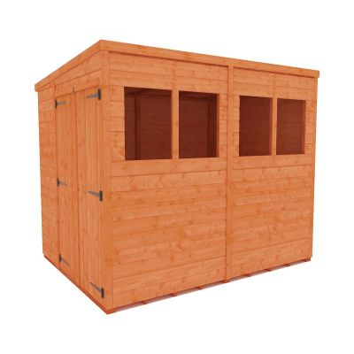Redlands 6' x 8' Double Door Shiplap Modular Pent Shed