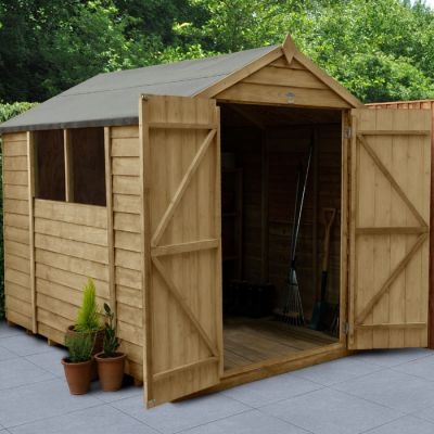 Hartwood 6' x 8' Double Door Overlap Pressure Treated Apex Shed