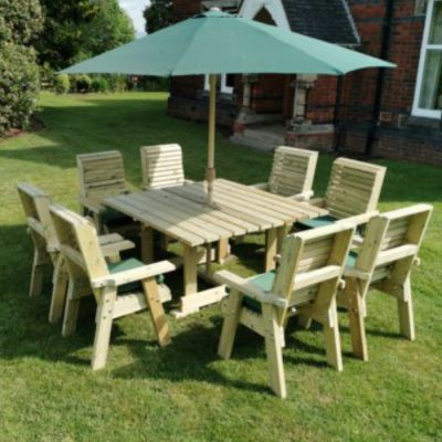 Moorvalley Ergo 8 Seater Square Casual Dining Set