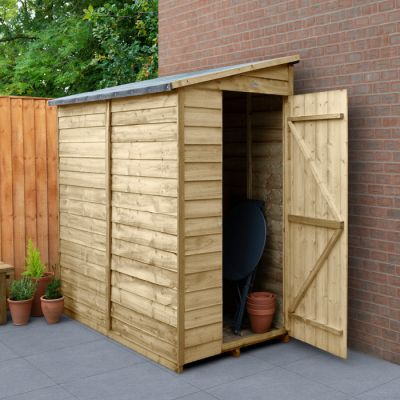 Hartwood 3' x 6' Windowless Overlap Pressure Treated Pent Wall Shed
