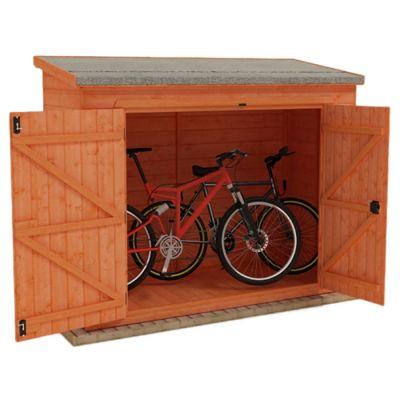 Redlands 7' x 4' Shiplap Pent Bike Shed