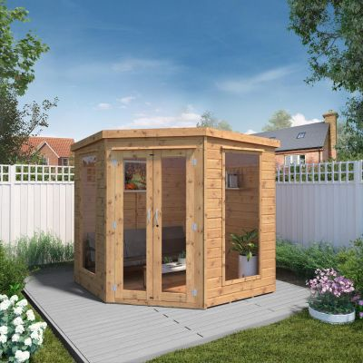 Adley 7' x 7' Chelsea Deluxe Corner Summer House