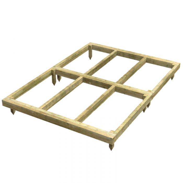 Oren 14' x 4' Wooden Shed Base