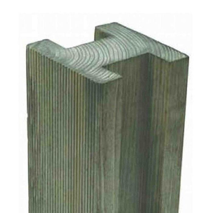 Hartwood 8' Reeded Slotted Fence Post