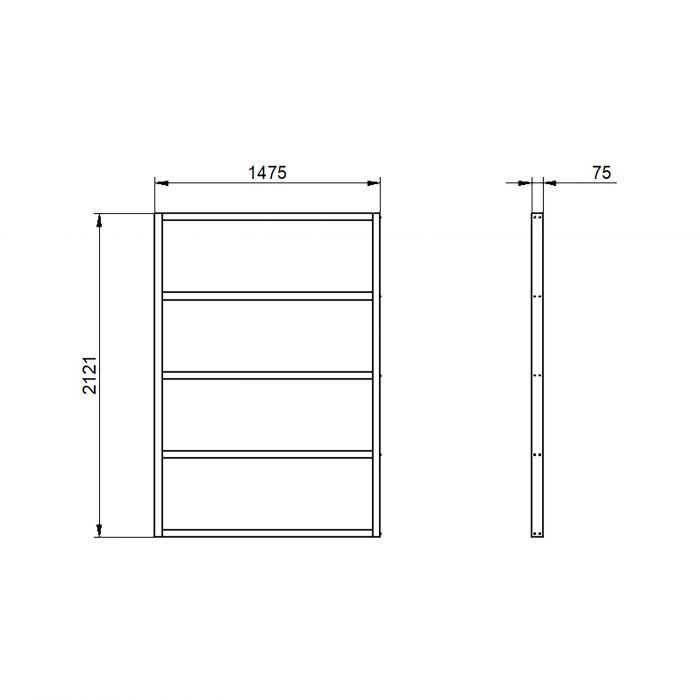 Hartwood 7' x 5' Wooden Overlap Shed Base