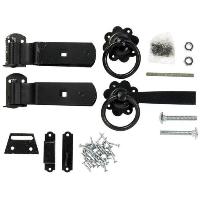 Hartwood 4' Gate Kit - Black Zinc Coated