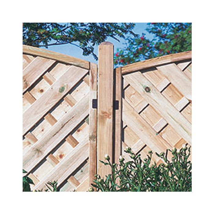 Hartwood 8' Dome Top Fence Post - 70mm