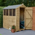 Hartwood 4' x 6' Overlap Pressure Treated Apex Shed With Extra Windows