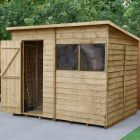 Hartwood 8' x 6' Overlap Pressure Treated Pent Shed