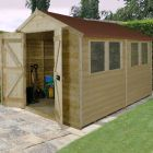 Hartwood 8' x 10' Double Door Premium Tongue & Groove Pressure Treated Apex Shed