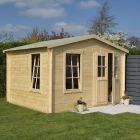 Rowlinson 3.4m x 3.0m Garden Retreat Log Cabin