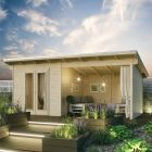 Rowlinson 5.9m x 2.5m Oasis Log Cabin
