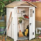 Loxley 4' x 4' Plastic Mediterranean Apex Shed