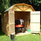 Loxley 7' x 7' Double Door Shiplap Barn