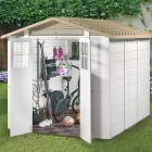 Loxley 7' x 8' Plastic Mediterranean Apex Shed