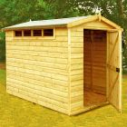Loxley 6' x 8' Shiplap Apex Security Shed