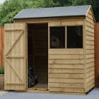 Hartwood 6' x 4' Overlap Pressure Treated Reverse Apex Shed