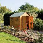 Rowlinson Premier 10' x 6' Double Door Shiplap Apex Shed