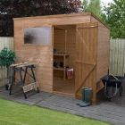 Adley 8' x 6' Pressure Treated Shiplap Pent Shed