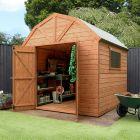 Adley 8' x 8' Premium Pressure Treated Double Door Shiplap Dutch Barn
