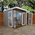 Adley 10' x 8' Cambridge Summer House With Side Shed