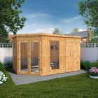 Adley 12' x 8' Chelsea Deluxe Corner Summer House With Side Shed