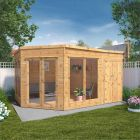 Adley 13' x 9' Chelsea Deluxe Corner Summer House With Side Shed