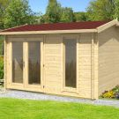 Greenway 3.5m x 3m Whiteleaf Log Cabin