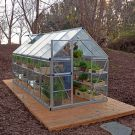 Palram 6' x 12' Nature Hybrid Silver Polycarbonate Greenhouse
