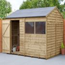 Hartwood 8' x 6' Overlap Pressure Treated Reverse Apex Shed