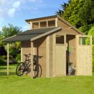 Rowlinson 7' x 7' Skylight Shed With Lean-To