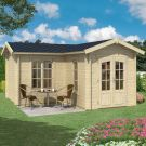 Greenway 4m x 4m Newborough Log Cabin