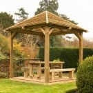Hartwood Venetian Pavilion With Decking