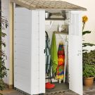Loxley 4' x 3' Plastic Mediterranean Pent Shed