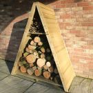 Loxley Small Tongue and Groove Triangular Log Store
