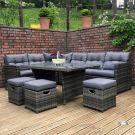 Oren Napoli 6-9 Seater Rattan High Back Corner Sofa Dining Set