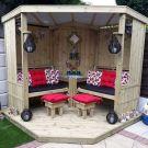 Moorvalley 4 Seater Classic Corner Arbour