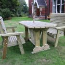 Moorvalley Ergo 4 Seater Rectangular Bench Dining Set