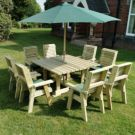 Moorvalley Ergo 8 Seater Square Dining Set