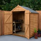 Hartwood 6' x 4' Double Door Windowless Overlap Apex Shed