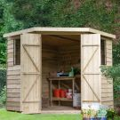 Hartwood 7' x 7' Overlap Pressure Treated Corner Shed
