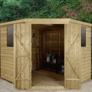 Hartwood 8' x 8' Overlap Pressure Treated Corner Shed
